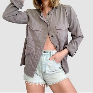 Anthropologie Sanctuary Grey Drawstring Jacket